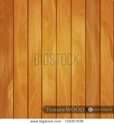 vector wood background- texture of light brown wooden planks