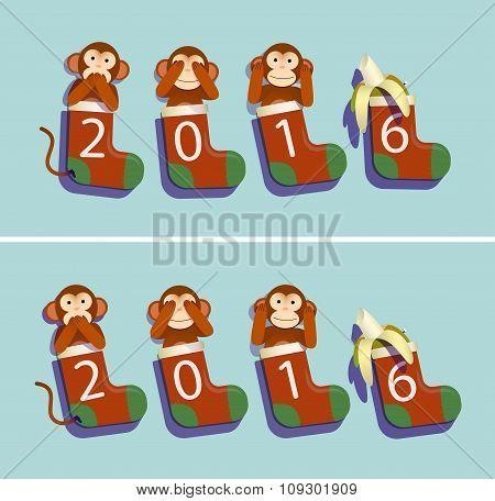 Socks, Monkeys And Banana 2016