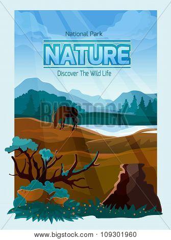 National park nature background banner