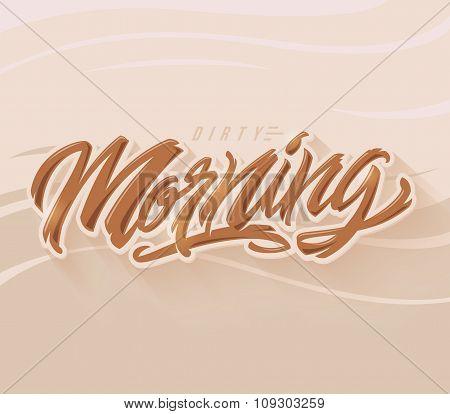 Morning vector lettering