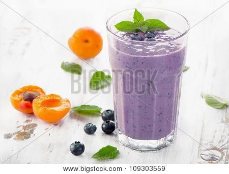 Glasses Of Smoothies With Fresh Berries
