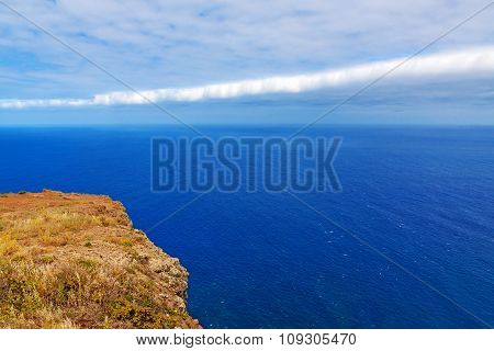 Atlantic Ocean - View From Cliff / Mountain