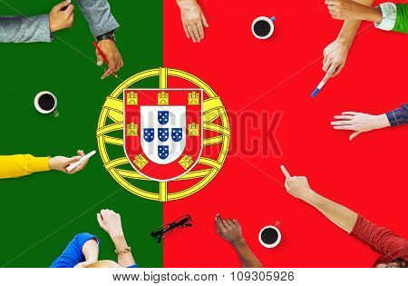 Portugal National Flag Government Freedom LIberty Concept