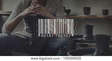 Bar Code Commercial Digital Price Tag Information Concept