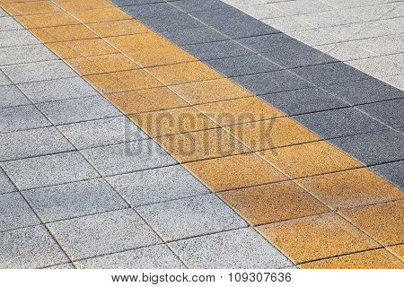 Decorative Colorful Sidewalk Pavement