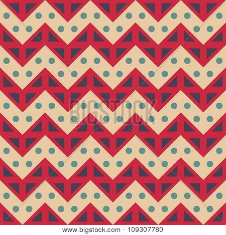 Vector modern seamless colorful geometry chevron lines pattern color red blue abstract