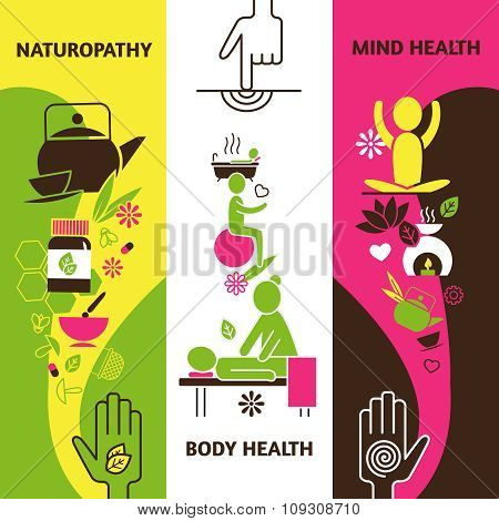 Alternative Medicine Banners Set