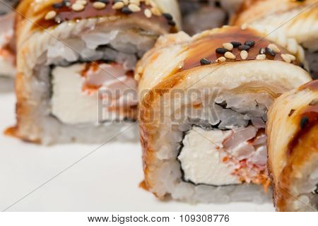 Canada roll with snow crab.