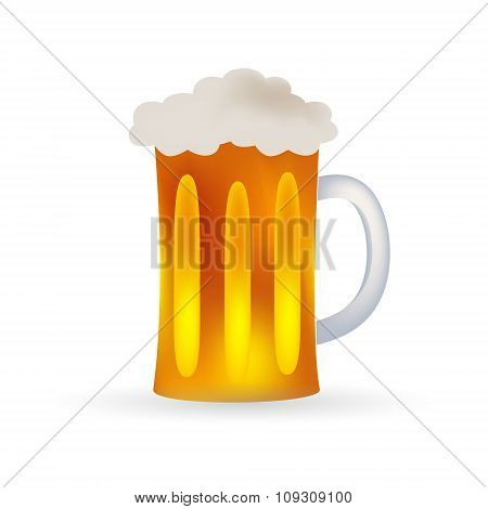 Full Glass Of Beer Alcohol Drink Eps10