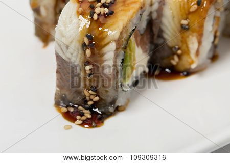Traditional canada sushi roll.
