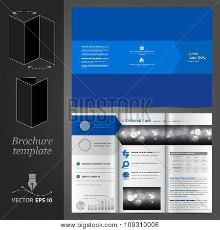 Blue Brochure Template Design