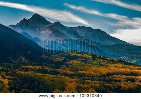Wilson Peak In The Fall, Uncompahgre National Forest, Colorado, United States Of America
