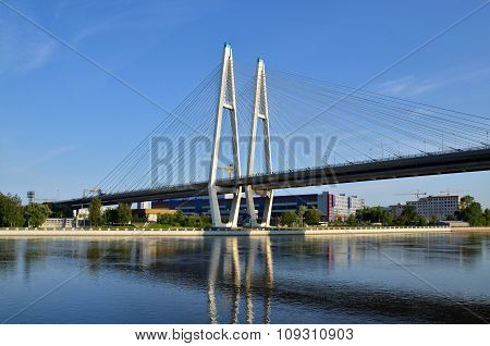 A Big White Bridge Through The River