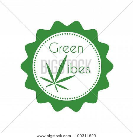 Marijuana badge