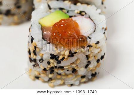 American sushi alaska roll.