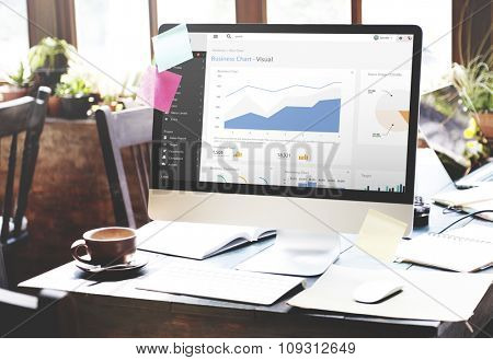 Business Chart Report Statistic Palnning Analysis Concept