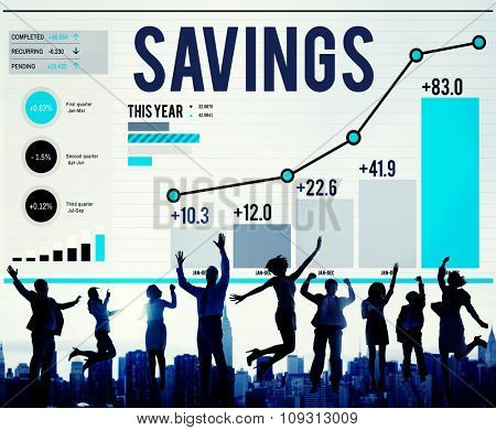 Savings Finance Income Profit Money Economic Concept