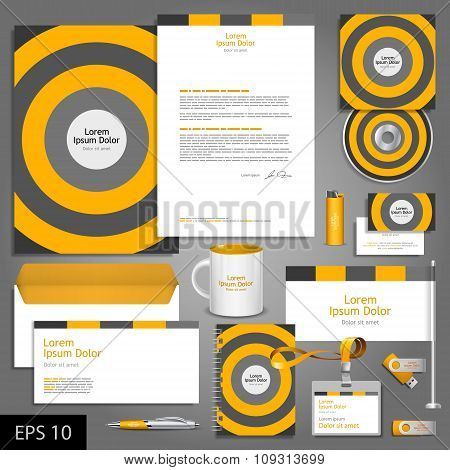 Striped Corporate Identity Template