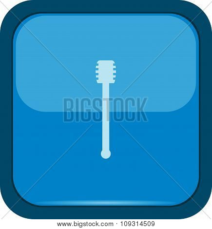 Honey dipper icon on a blue button