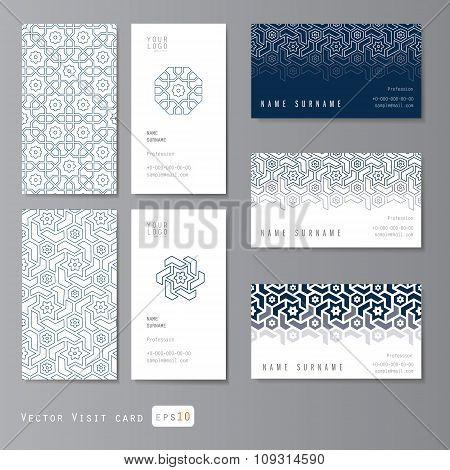Visit cards set