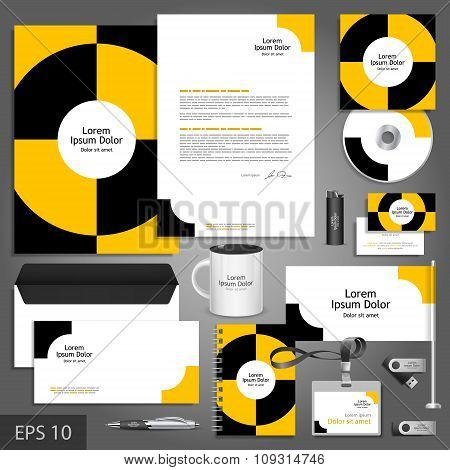 Corporate Identity Template With Round Elements