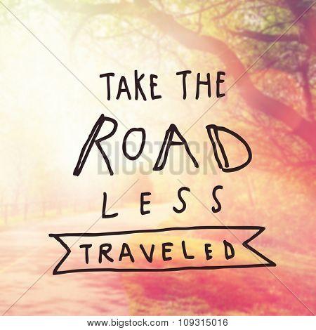 Inspirational Typographic Quote -