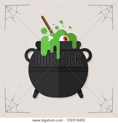 Cauldron icon vector
