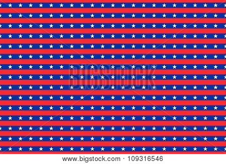 Patriotic Background With Stars.