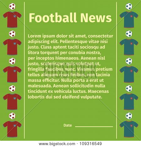 Football card for advertising or news