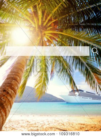 Tropical beach destination Scenic Nature Concept