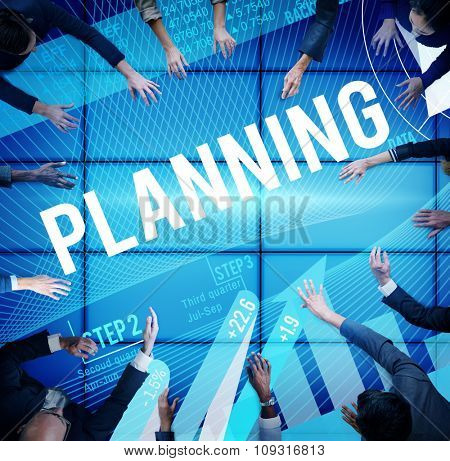 Business Planning Data Analysis Strategy Concept