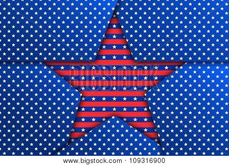 Red Patriotic Star