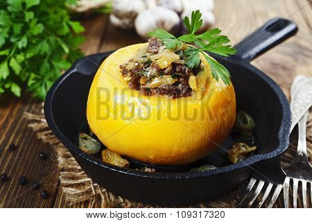 Turnip Stuffed With Minced Meat