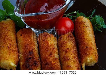 Fry Cheese Sticks