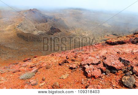 Piton de la Fournaise (Peak of the Furnace) 2632m is a shield volcano on the eastern side of Reunion island in the Indian Ocean. It is currently one of the most active volcanoes in the world.