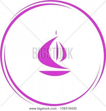 ship. Internet button. Vector icon.