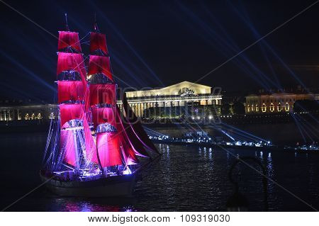 The Frigate Participated In Festivities Marks School Graduations.  Festival Scarlet Sails Celebrates
