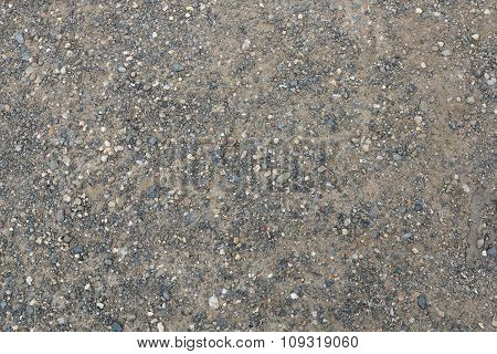 Gravel And Dust Surface With Small Stones