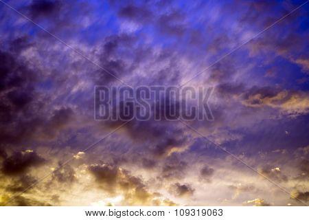 Beautiful Dark Multi Coloured Sky
