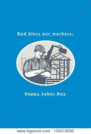 Labor Day Greeting Card Builder Houseframe Crane
