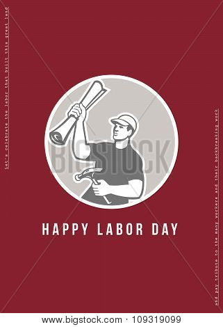 Labor Day Greeting Card Builder Plan Hammer Circle