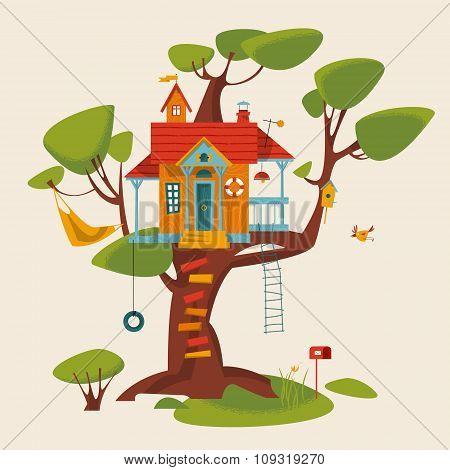 Handmade tree house for kids