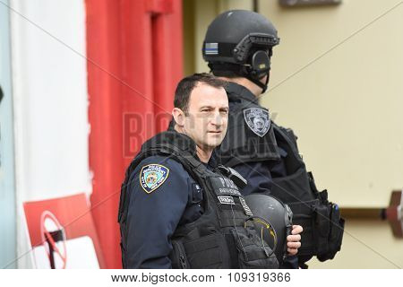NYPD CTB personnel in tactical gear