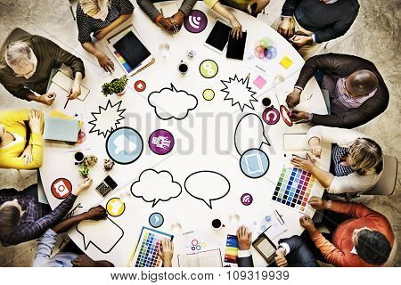 People Meeting Connection Social Networking Communication Concept
