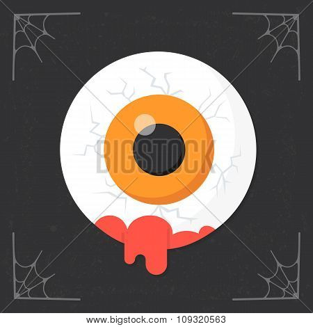 Eye in Blood icon vector