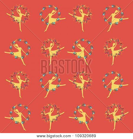 Stylish Vintage card with ballet dancers