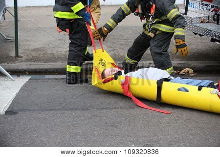 Pulling casualty to safety