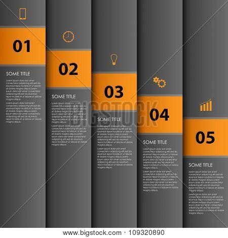 Info Graphic With Dark Stripes Design Template