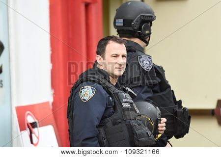NYPD CTB personnel after drill