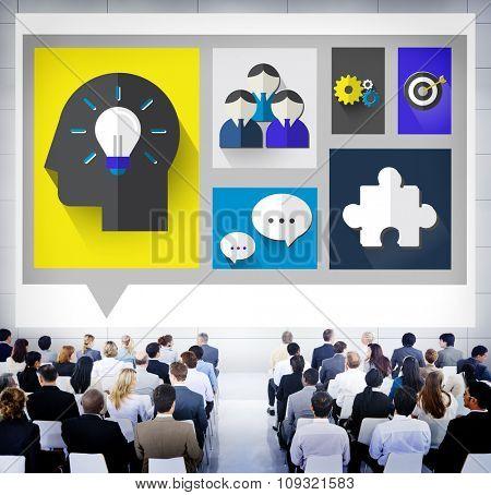 Brainstorm, Brainstorming Sharing Teamwork Planning Concept
